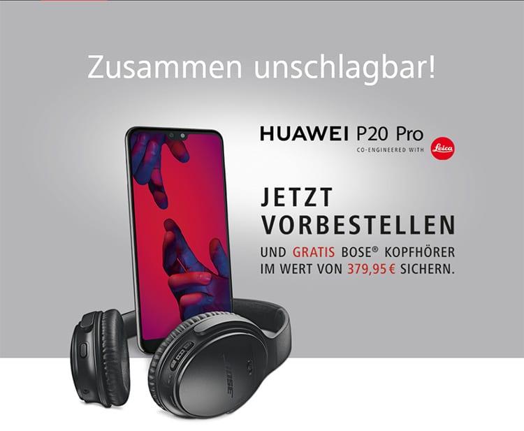 Bose Kopfhörer-Aktion von Huawei