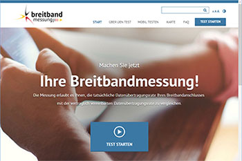Breitbandmessung Screenshot