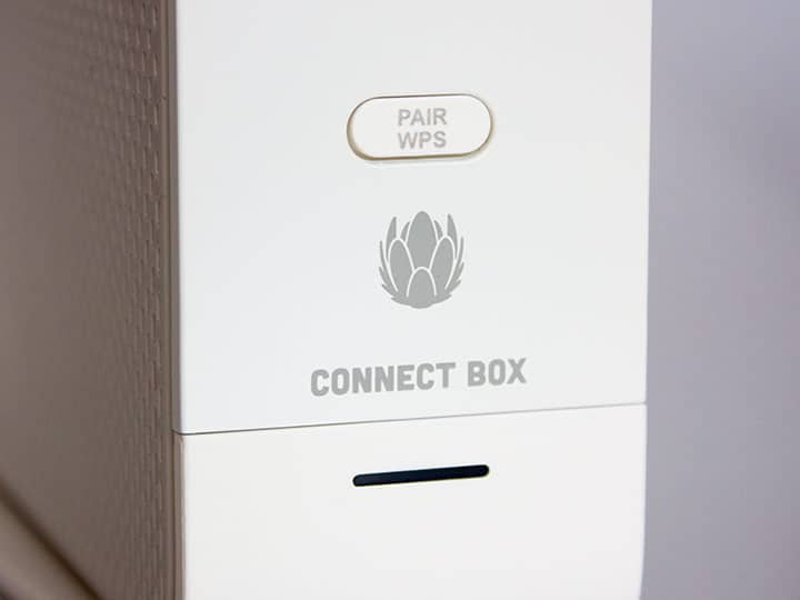 WPS Button bei der Connect Box von Unitymedia