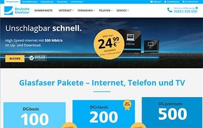 Deutsche Glasfaser Screenshot