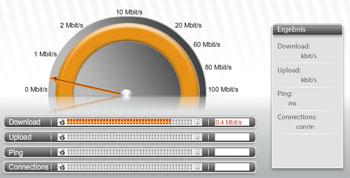 Internetanschlüsse in Deutschland sind langsam