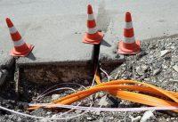 Glasfaser Leitungen werden verlegt