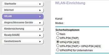 Verschlüsselung bei Netgear Routern