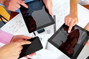 Tablets und Smartphones