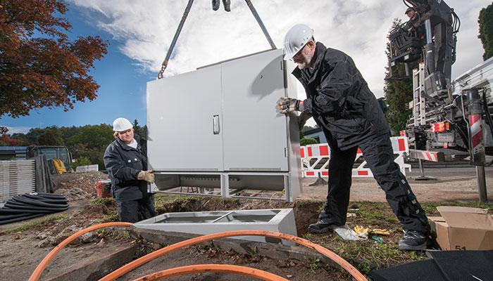 Netzausbau bei der Telekom; Bild: Deutsche Telekom AG