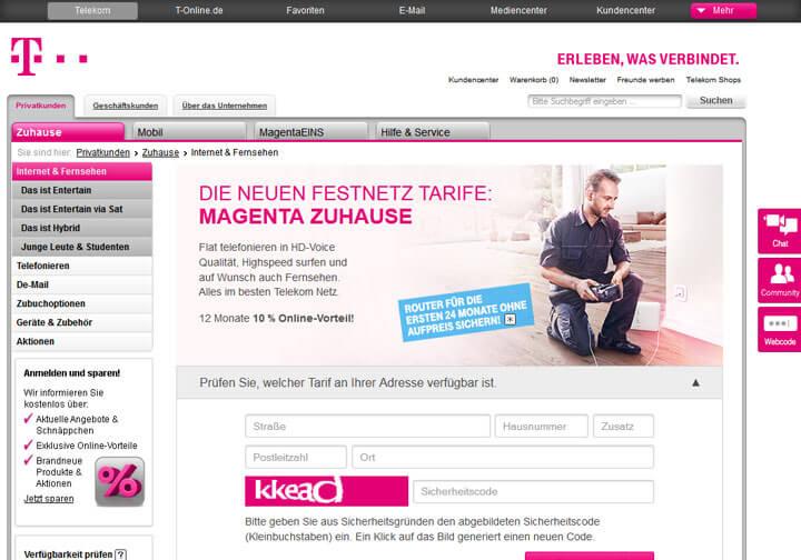 Telekom Screenshot