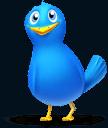 Twitter-Symbol: ein blaues Vögelchen