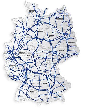 Versatel Netz in Deutschland; Bild: 1&1 Versatel