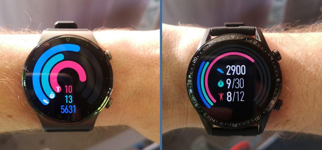 Huawei Watch GT 2 Pro: Aktivitätsanzeige im Vergleich