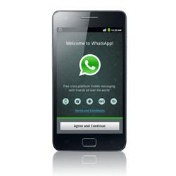 WhatsApp Startbildschirm auf einem Samsung Smartphone