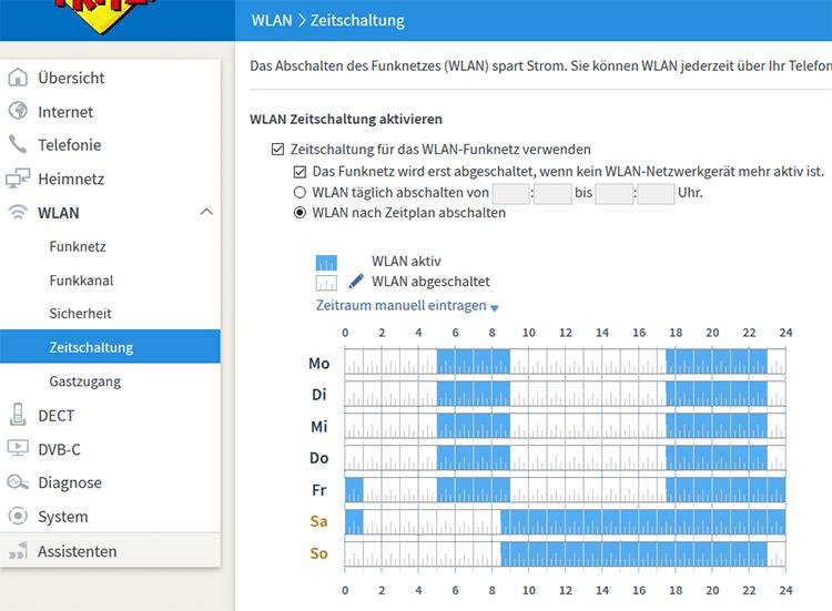 WLAN Zeitschaltung bei FRITZ!Box Routern